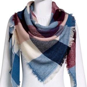 Accessories - Blue/Multi Blanket Scarf